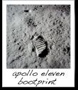 Apollo 11 Bootprint - NASA - 1969